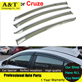 car styling Window Visors For Chevrolet Cruze 2009 2010 2012 2013 2014 Sun Rain Shield Stickers Covers Awnings Shelters