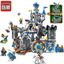 Enlighten 1541Pcs Building Blocks War of Glory Castle Knights The Battle Bunker Legoes Educational Bricks Toy Boy Gift