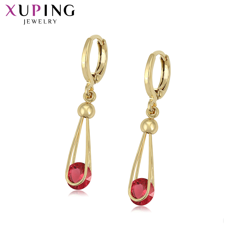 Xuping mode tempérament boucles d'oreilles pour femmes forme ronde bijoux belles boucles d'oreilles anniversaire Simple cadeaux S201.8-98226