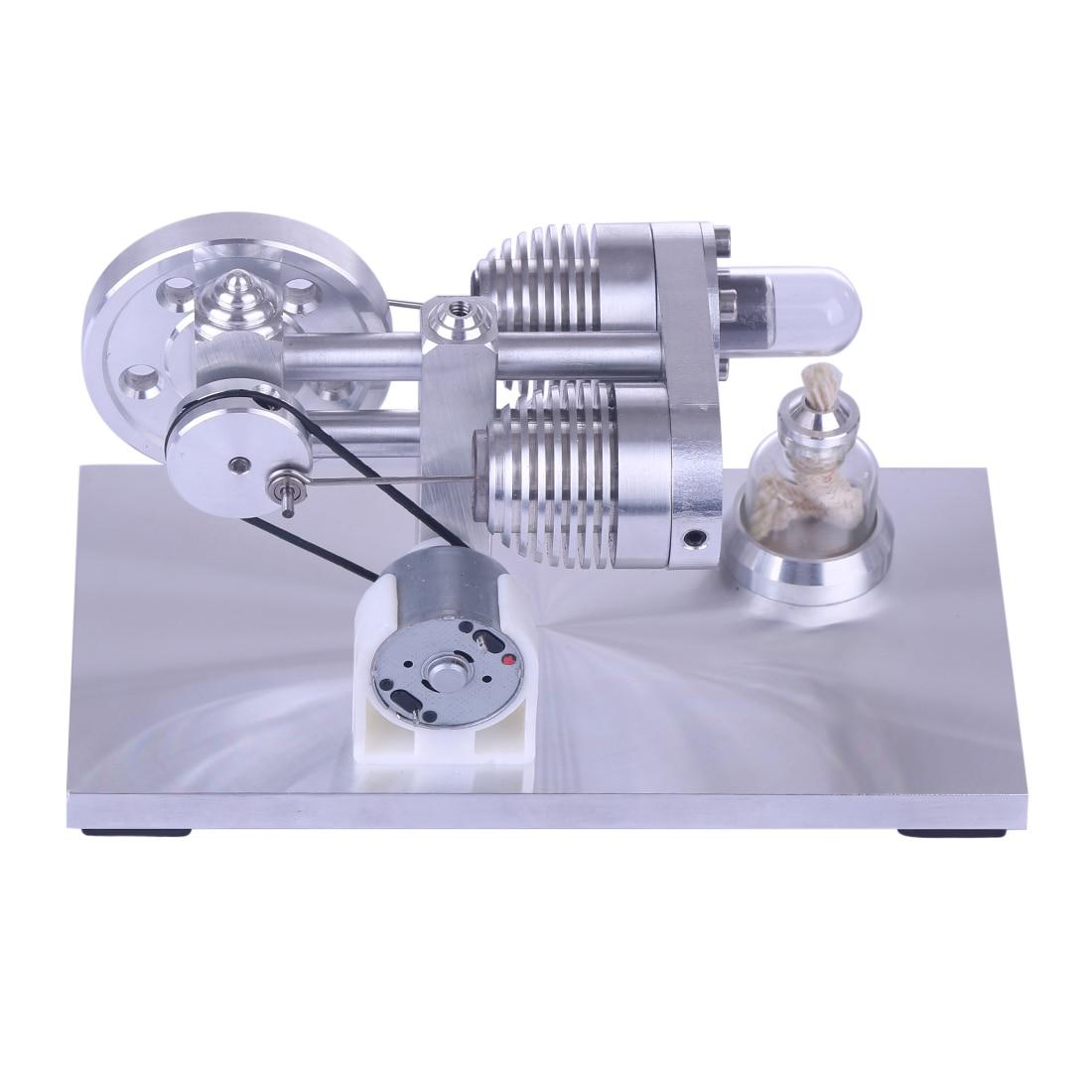 NFSTRIKE Tube de chauffage en alliage d'aluminium Quartz Stirling moteur modèle éducatif Kit puissance éducatif bricolage modèle jouet enfants adultes