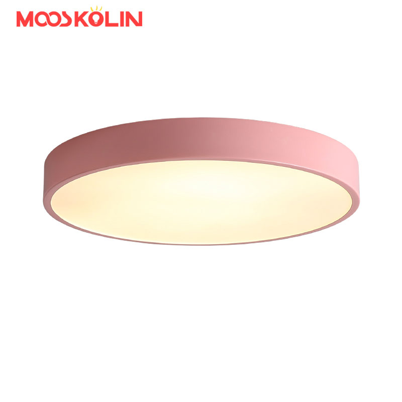 Nordic Round LED Ceiling chandelier For Kitchen Aisle Bathroom AC85-265V Modern Led Ceiling Chandelier Lamp Fixture D30cm 18w dhl ship 18w surface mounted led downlight round panel light smd ultra thin circle ceiling down lamp kitchen bathroom lamp
