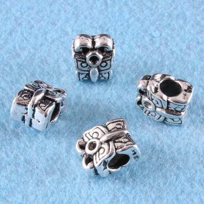 LOT de 40 EMBOUTS  GUIDE PROTEGE CABLE 5x4mm ARGENTES perles fil bijoux