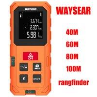 WAYSEAR Laser Distance Meter 40M 60M 80M 100M Laser Rangefinder Laser Tape Range Finder Trena Ruler