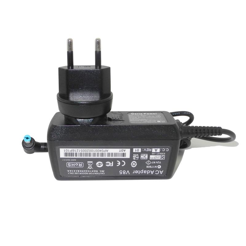Adaptador de alimentación de CA de 40W 19V 2.15A para Acer Aspire V3-572 V5 MS2360 MS2361 V5-121 V5-123 V5-131 V5-132 V5-171 cargador