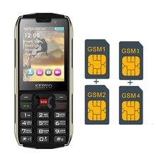 Четыре sim-карты! Внешний аккумулятор для мобильного телефона! 2,8 дюймов! большая кнопка русская клавиатура 4 sim-карты 4 режима ожидания 3000 мАч Внешний аккумулятор зарядное устройство для телефона