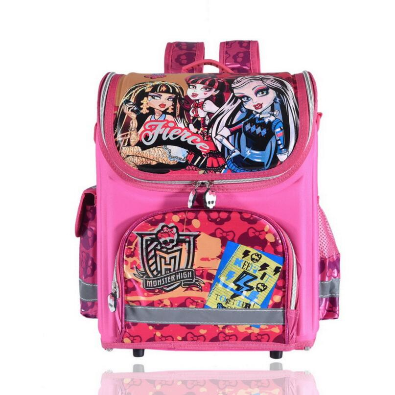 Ортопедические детей школьные сумки для девочек; Новинка Детский Рюкзак Monster High Винкс книга мешок принцессы ранцы Mochila Escolar