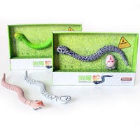 Free shipping Remote Control music voice simulation IR Rattle Snake Halloween Simulation Snake Tricky Scary Toy Prank Gift Model