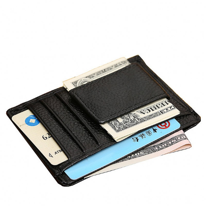 Mænds tegnebøger Mini Money Clips Berømte Brand Fashion Small Zise Wallet til Cash Designer for Money Card Men Clutch tegnebog