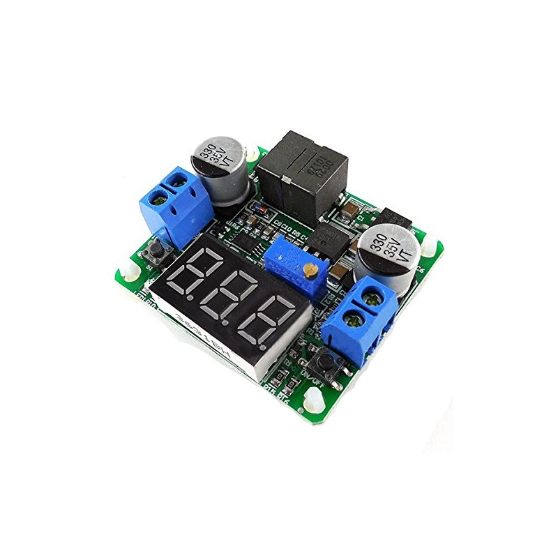 Integrated Voltmeter Buck-Boost Power Supply Module Super LM2577 LM2596 IN (5-25V)  - buy with discount