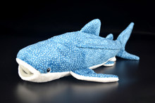 35cm Long Soft Blue Whale Shark Plush Toys Real Life Stuffed Toy Sea Animals Plush Toy Gifts For Kids(China)