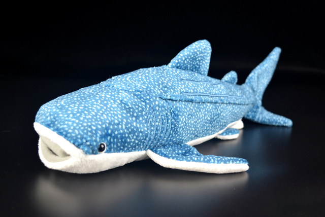 35cm Long Soft Blue Whale Shark Plush Toys Real Life Stuffed Toy Sea