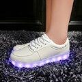 Femme светящиеся Светодиодные обувь Usb Заряда загорается Мужчин и Взрослых colorfull светящиеся обуви неоновые случайные корзина тренеры 11 Цветов привело обувь
