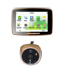 Video eye peephole 2017 IR nightvision 5.0inch Touchable LCD 1.0megapixels camera Motion Sensor SIM call MMS Alarm door peephole