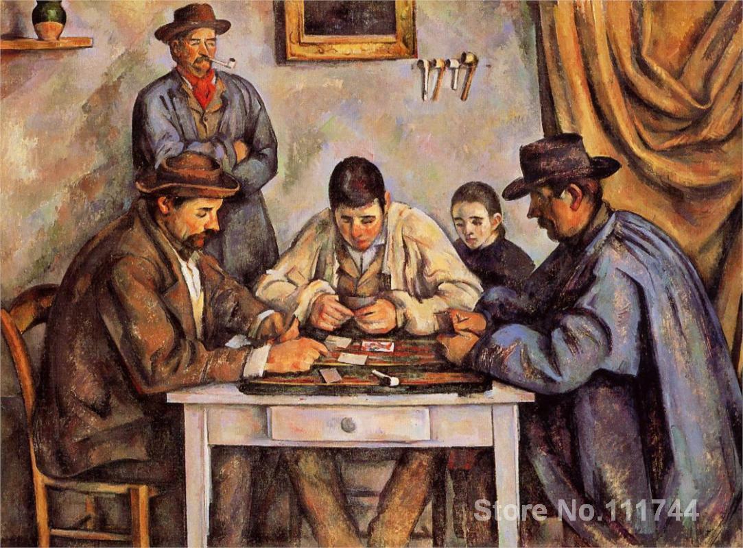 Картина маслом портрет карты игроков подробные поля Сезанна Art для продажи ручная роспись высокое качество