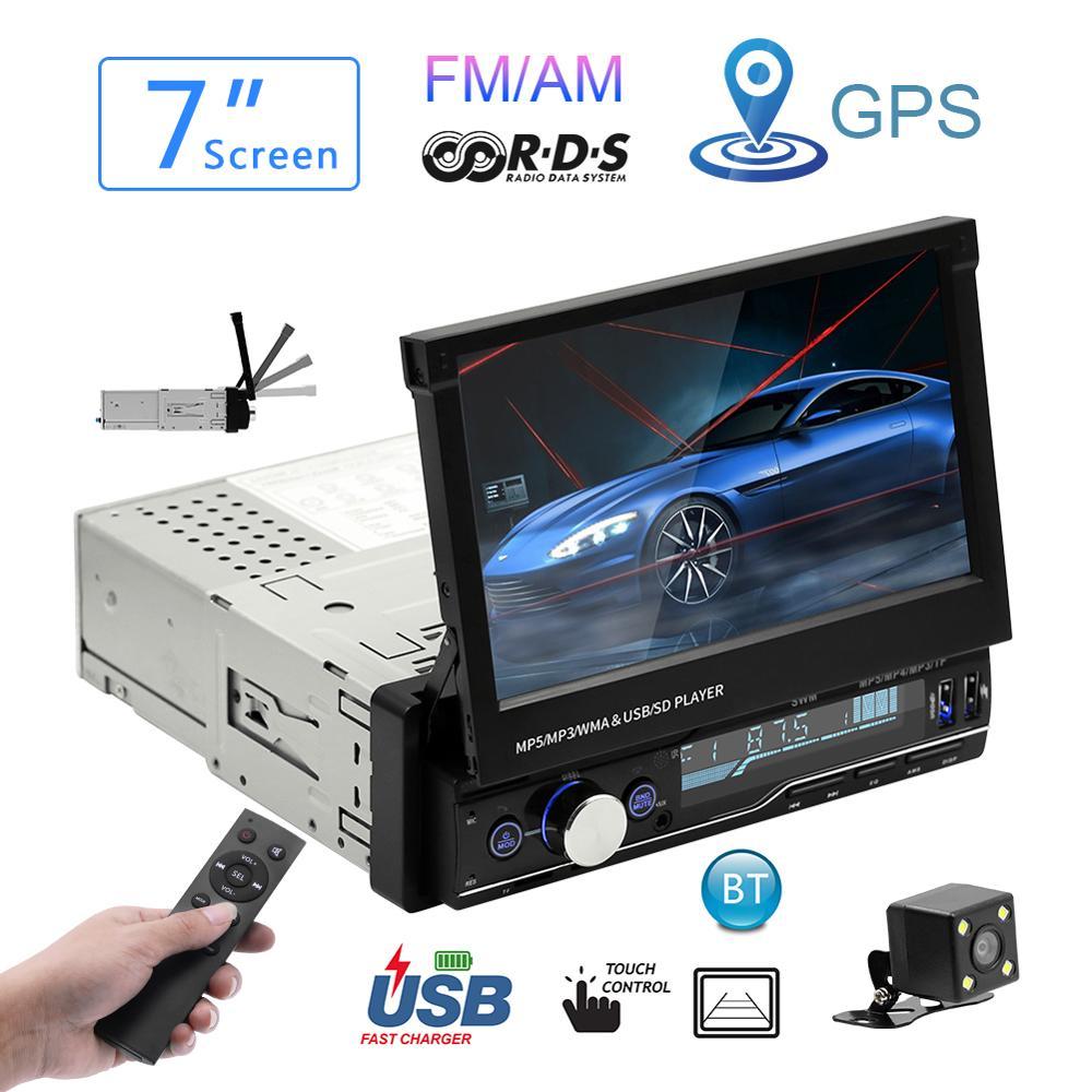 Car Radio Mp5 Player MP3 Autoradio Bluetooth RDS 7 Radio 1 Din GPS Car Audio Stereo