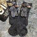 2016 Мода Носки Ручной Работы На Заказ Новый Многоцветный Симпатичный Медведь Кукла Модели Продажи Короткой Трубкой Груды Яркие Шелковые Носки Женщины