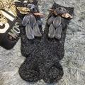 2016 Meias Moda Handmade Personalizado New Multicolor Boneca Urso Bonito Modelos de Venda de Tubo Curto Meias Pilhas De meias De Seda Brilhante Mulheres