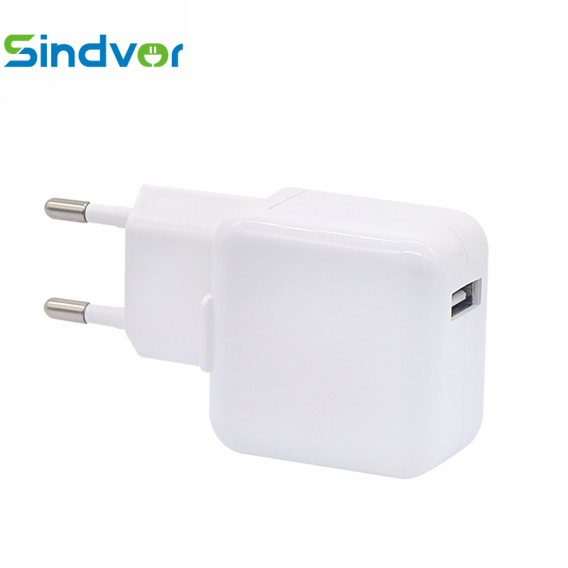 Sindvor Original Usb Power Adapter 12W Charger EU Plug 5V 2.1A Travel Wall Charger For iPa