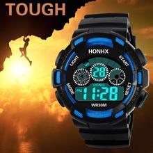 OTOKY спортивные часы Водонепроницаемый 50 м для мальчиков цифровой светодиодный Плавание часы Дети сигнализации Дата Смотреть подарок 2018