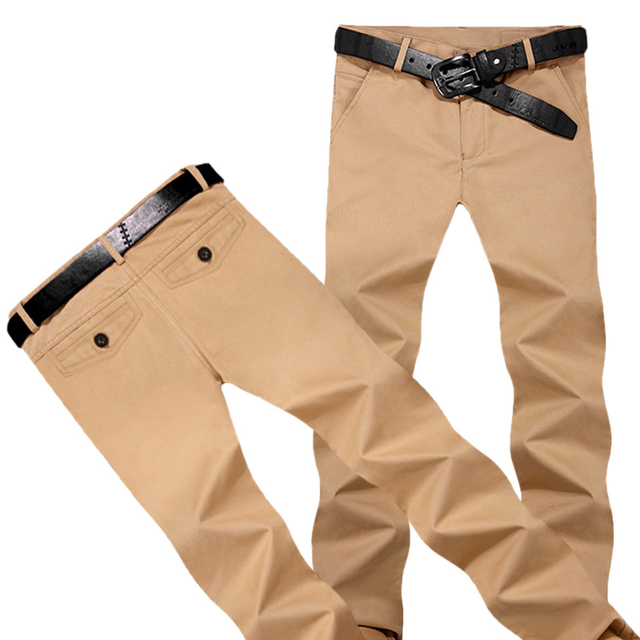 Sarouel hommes New Fashion   Casual Slim Fit hommes kaki pantalons  pantalons Chinos Sarouel Pantalon homme 9f67f2baddeb