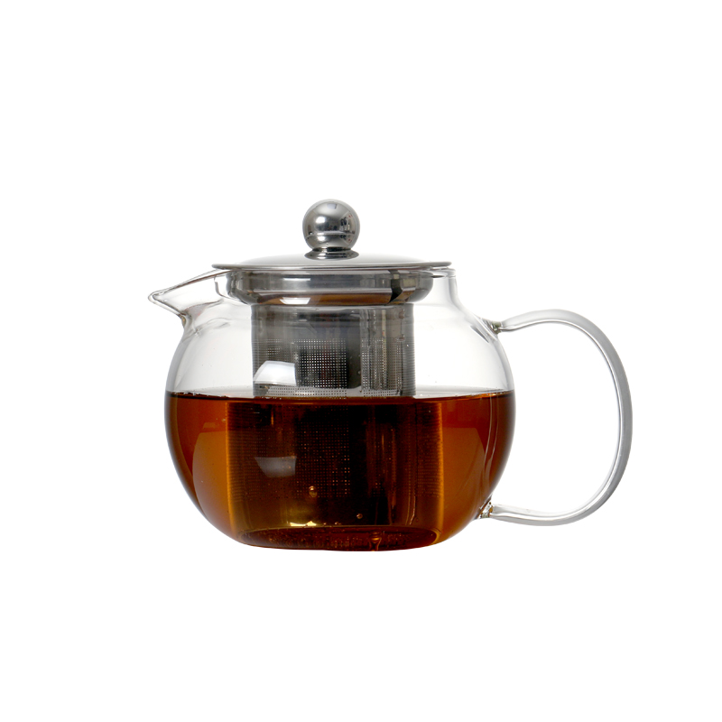 22oz Heat Resistant Glass Teapot With Removable Infuser Microwavable And Stovetop Safe Loose Leaf Teapot Tea Strainer