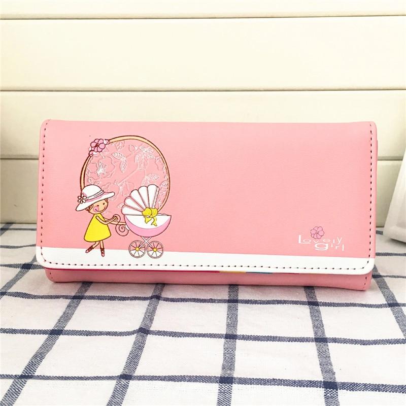 d5518badfed0 Винтаж граффити кукла коляска разнообразие цветов бумажник женщины кошелек  деньги пакет бумажник