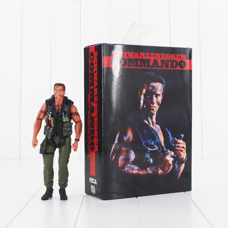 18cm NECA Commando John Matrix Arnold Schwarzenegger PVC Action Figure Collectible Model Toy new 1333cm pvc american film terminator t 800 arnold schwarzenegger doll action figure adult model toy