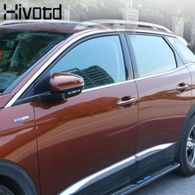 цена на Hivotd for peugeot 3008 3008GT 2017-2019 stainless steel car window middle strip trim frame exterior car Styling accessories