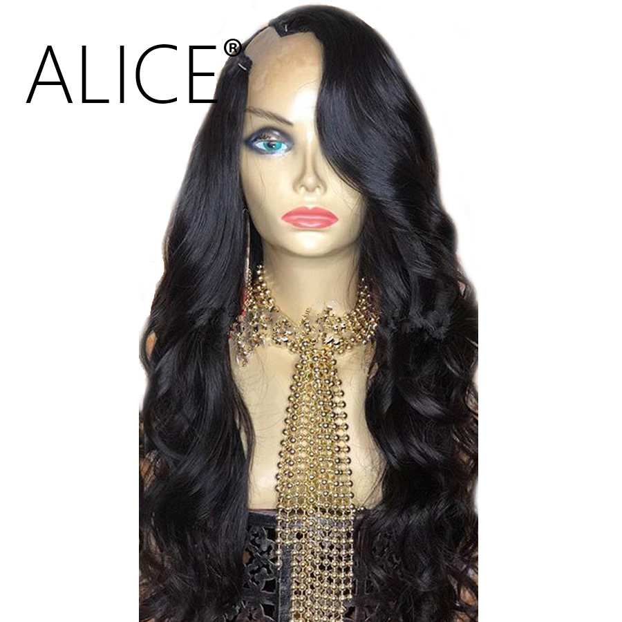 Hair Extensions & Wigs Paff Ombre U Part Human Hair Wigs Body Wave 100% Brazilian Remy Hair Middle Part 1*3 1*42*4 Two Tone Color Free Shiping Human Hair Lace Wigs