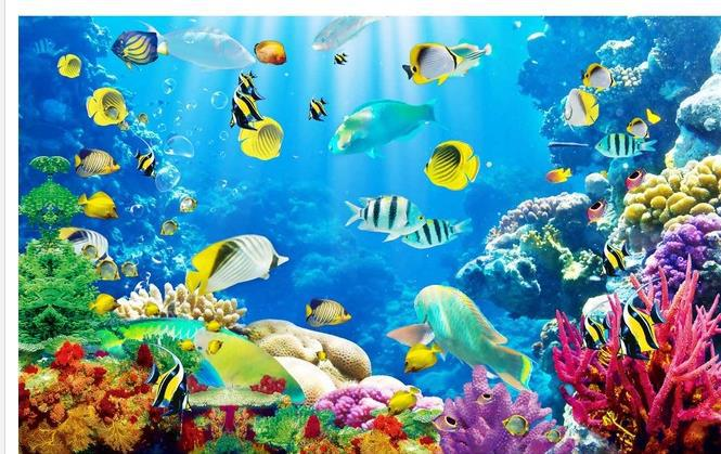 Wallpaper Underwater World Coral Sea 3D Mural Wall Paper Papel De Parede Stickers Wallpaper20152474 In Wallpapers From Home Improvement