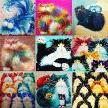 5D DIY Diamond Oil Painting Cartoon Cat Cross Stitch Diamond Embroidery Mosaic Diamond Home Decor Art
