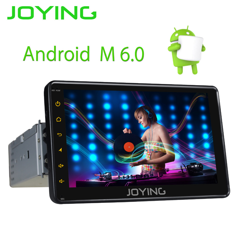 JOYING 1 DIN 7 ''écran tactile Android 6.0 autoradio autoradio stéréo gps navi magnétophone avec arrière vue caméra DVR DAB + OBD2