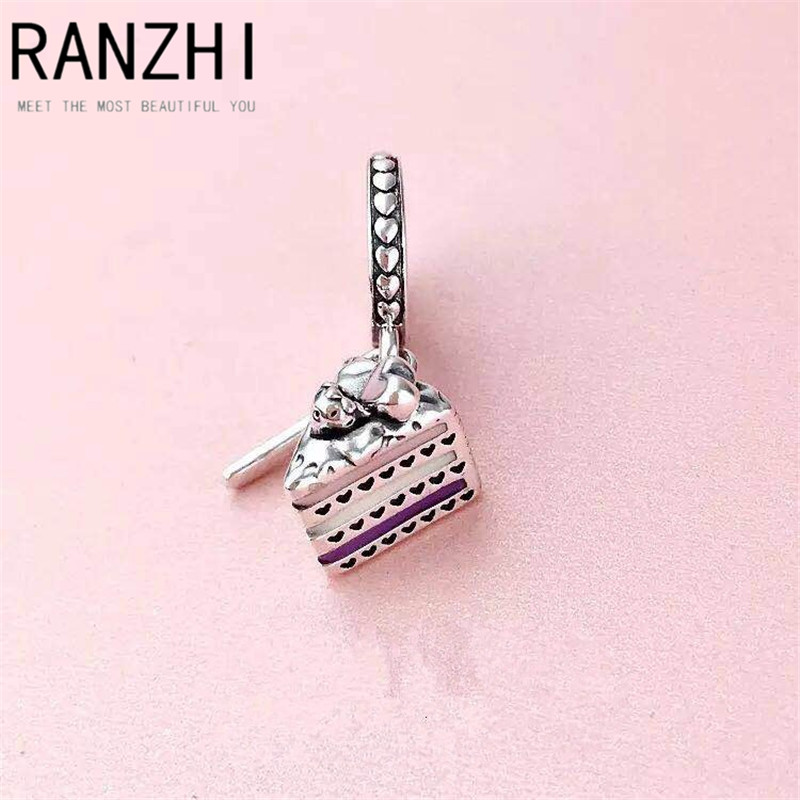 RANZHI PAN Cake Pendant 925 Sterling Silver Genuine Personality Original Sweet Beauty Student Party High Jewelry Fashion Gift
