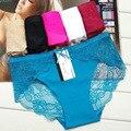O envio gratuito de 3 pçs/lote Ice silk sexy senhoras lingerie Sem Costura uma peça-calças cuecas comércio por grosso das mulheres legal 89061