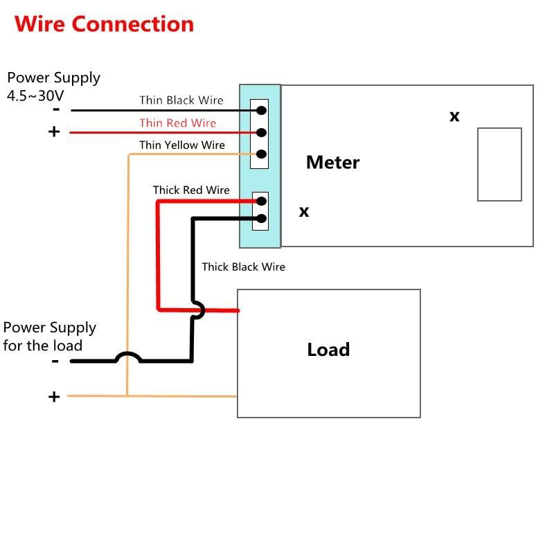 Mini voltmètre numérique DC 100V, 10A, 50A, 100A, testeur de courant, chiffres 0.28 pouces, bleu, rouge, double affichage, LED