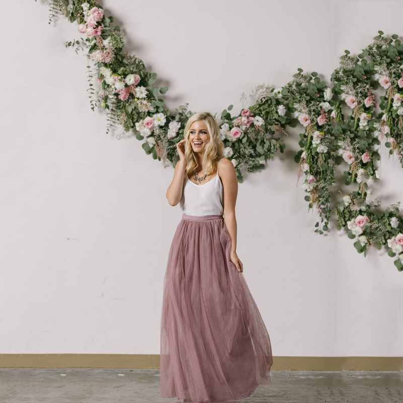 Womens Tulle Skirts Full Length Collection Tulle Skirt Customized Womens Saia Tulle Maxi Skirt Floor Length