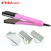 8 Plate 5 Color Hair Straightener Professional titanium ceramic flat curling iron styler straightening irons 4 in 1 styling tool