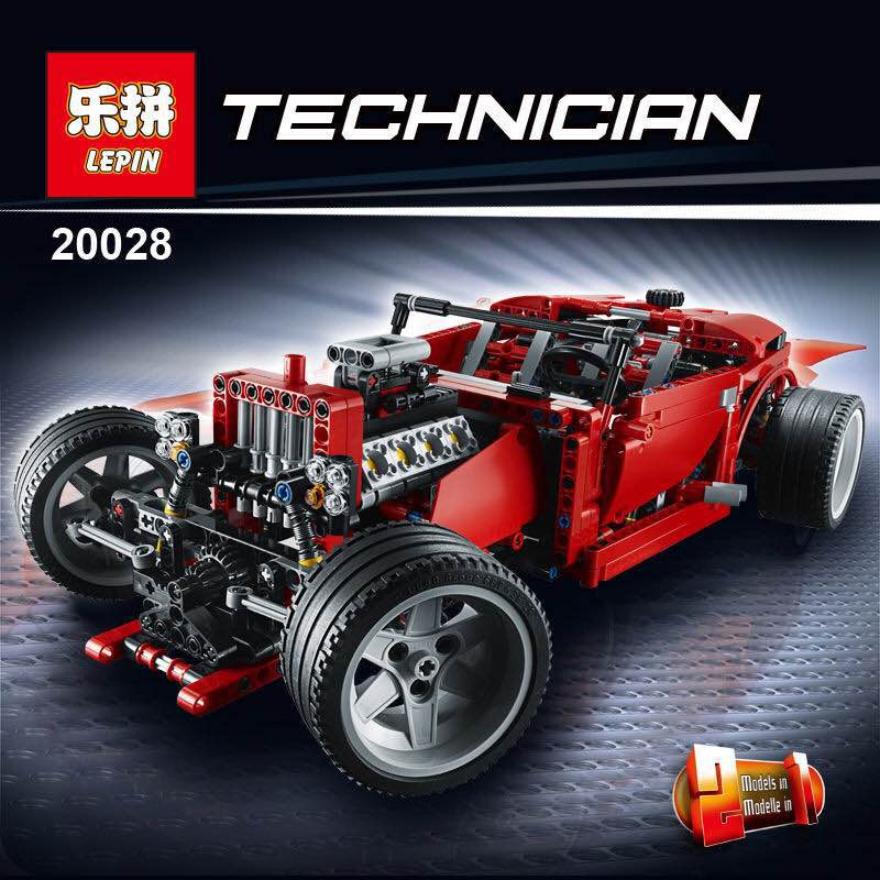 LEPIN 20028 1281PCS Technic series Super Car assembly toy car model DIY brick building block toy gift for boy New Year gift toys in stock lepin 20028 1281pcs technic series super car assembly toy car model diy brick building block toy gift for boy gift 8070