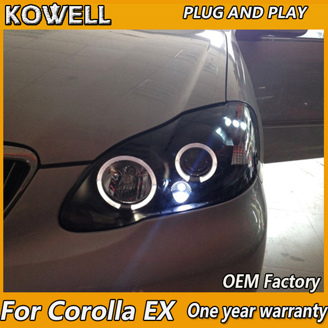 Kowell Car Styling For Toyota Corolla Ex Led 2004 2005 2006 2009 Headlight Angel Eyes Light Xenon Lens H7