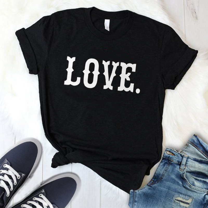 clothing plus size kawaii print letter women tee t shirt love valentine day t-shirt print female tshirt clothes ladies top