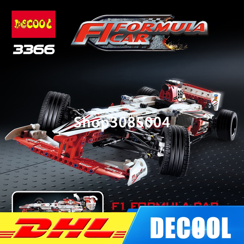 IN Stock DHL Decool 3366 1219pcs Technic 2 In 1 F1 Formula Racing Car Building Block Compatible 42000 Brick Toy