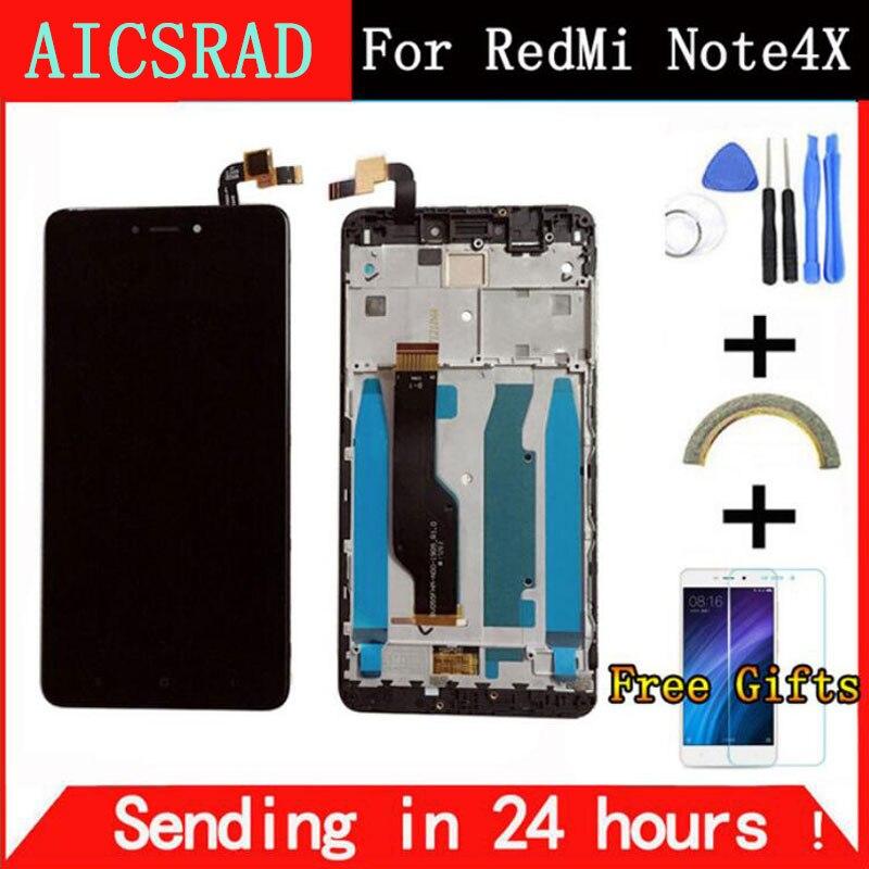Für Xiaomi redmi hinweis 4X note4X hinweis 4 Globale Version Snapdragon 625 3 GB 32 GB LCD Display + Touchscreen Digitizer Mit Rahmen