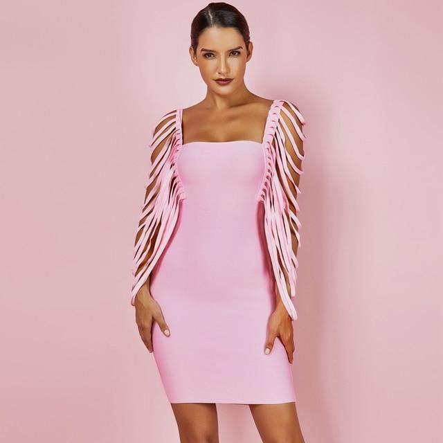 Deer Lady Fabulous Bandage Sleeve Dress