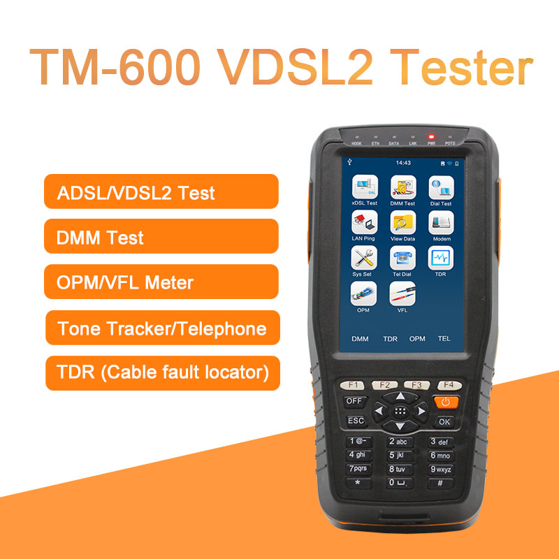 TM-600 VDSL2 Tester TM-600 VDSL Tester with xDSL /DMM/TEL,all-in-one unit DMM Telecom test XDSL Line test and Maintenance Tools