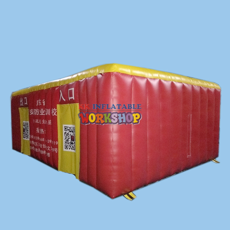 6*4m PVC Air rescue equipment inflatable fire safety tent simulated smoke room escape tent6*4m PVC Air rescue equipment inflatable fire safety tent simulated smoke room escape tent