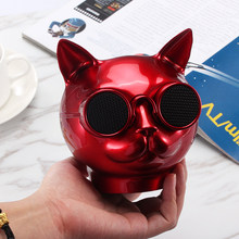 Portable Speaker Cute Cat Bluetooth Speaker Outdoor Bicycle Bass Subwoofer Speakers Wireless Mini Column Box Speaker FM TF(China)