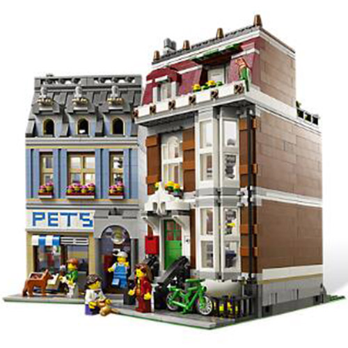 LEPIN 15009 City Street  Pet Shop Supermarket Model Building Kits Blocks 2354pcs Brick Toy Gift For Children 10218 lepin 15009 city street pet shop model building kid blocks bricks assembling toys compatible 10218 educational toy funny gift