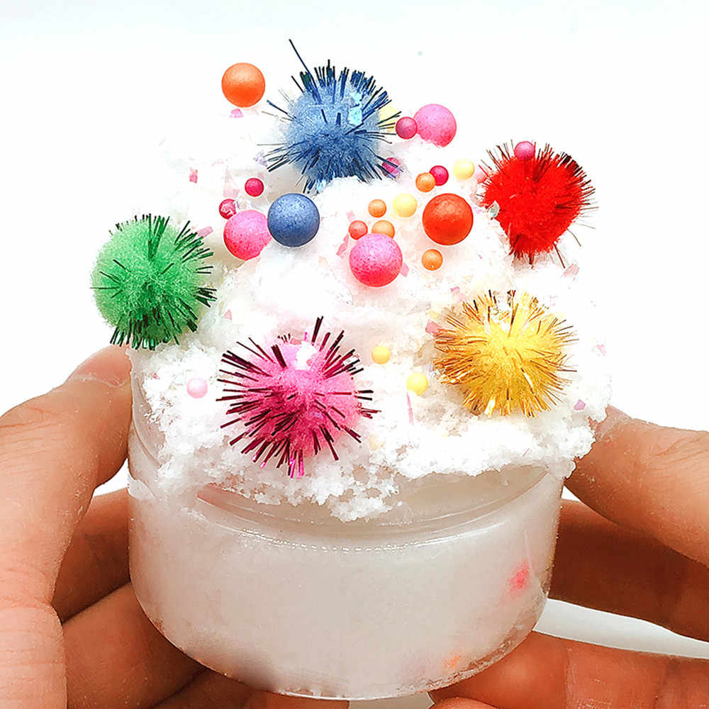 Mud Mixing Baubles Fluffy Floam Slime Putty Scented Stress Clay Sludge DIY Clear Slime Toys For Christmas Gift Dropshipping