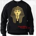 Золотое издание тутанхамон шеи экипажа SWETSHIRT египетский империи хип-хоп DJ хабар перемычка