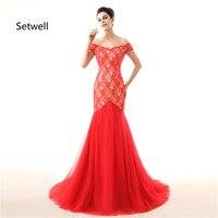 Setwell сексуальное свадебное платье Русалка с v образным вырезом с открытыми плечами богемное свадебное платье с открытой спиной простое крас